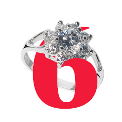6. Eliza Silver Cluster Ring