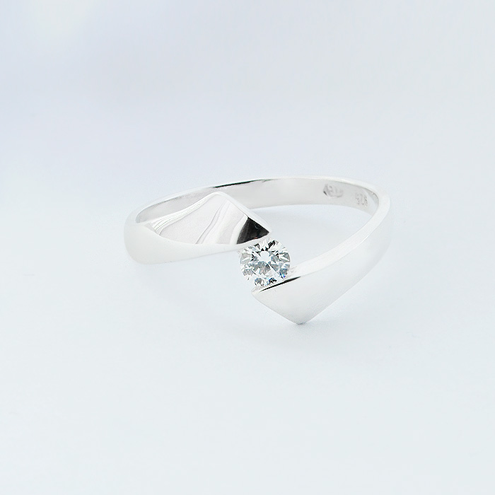 LUCETTA Silver Ring with  and Cubic Zirconia