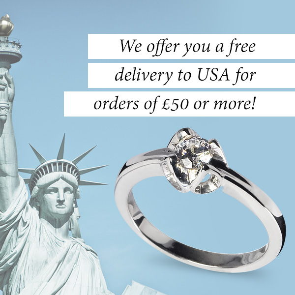 We offer you a free delivery to USA for orders of £50 or more!