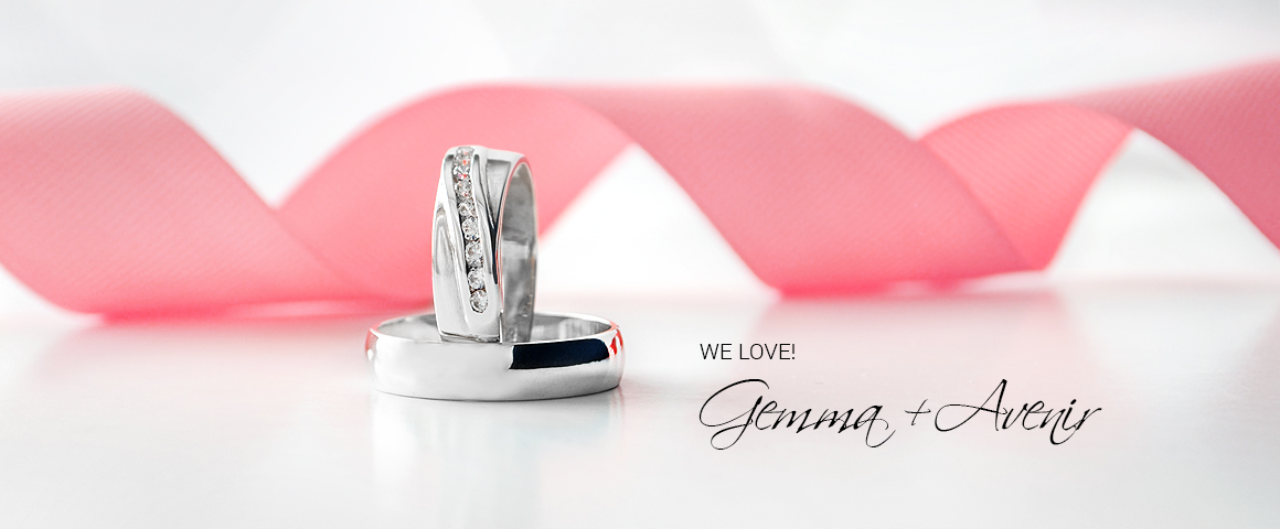 We love this combo! Gemma Silver Ring and Avenir Silver Band